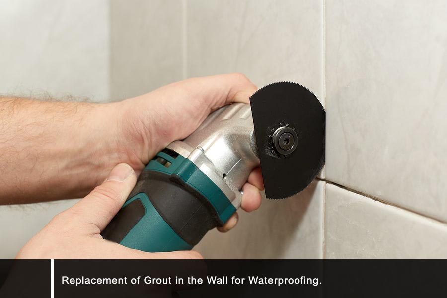 Grout replacement waterproofing Singapore