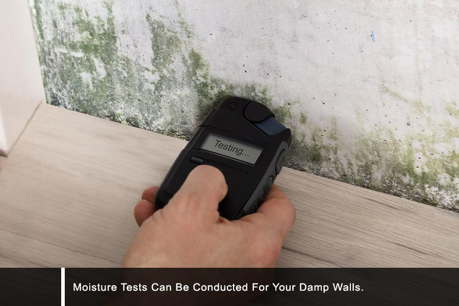 Moisture measurement by waterproofing company in Singapore